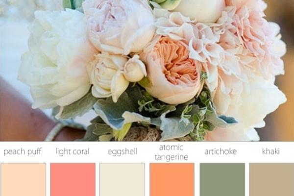 paleta de colores boda